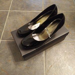 Mossimo Addie 3-inch Black Patent Heels 8 NIB